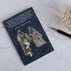 Jane Eyre illustration card meeting Mr Rochester