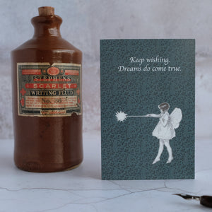 Stone ink bottle and fairy card.