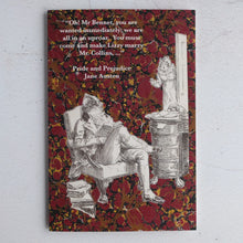 Load image into Gallery viewer, Oh! Mr Bennet quotation card from Pride and Prejudice