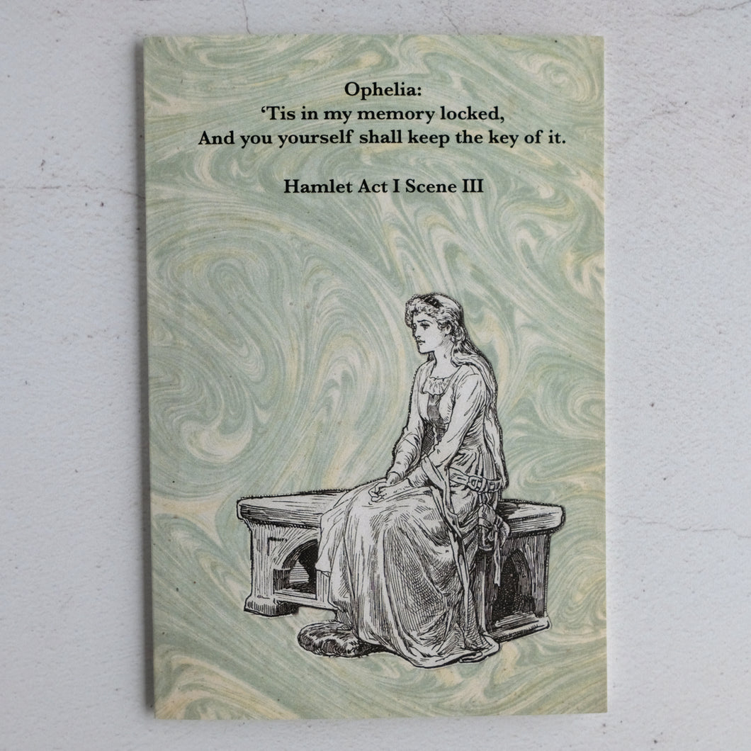 Ophelia quotation card (Hamlet)