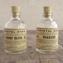 Load image into Gallery viewer, Small penny dye bottle featuring an original Victorian label