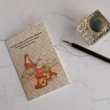 Load image into Gallery viewer, The Queen of Hearts humour card and glass inkwell with dip pen.