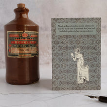 Load image into Gallery viewer, Stone ink bottle and Pride and Prejudice card.