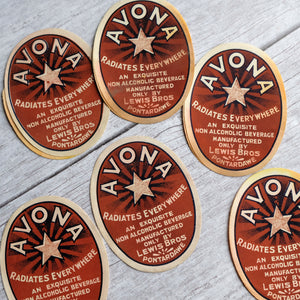 Avona vintage drinks bottle label