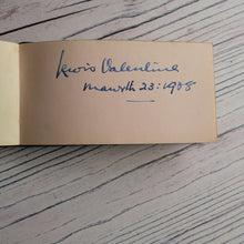 Load image into Gallery viewer, 1930s autograph book (camp, Eisteddfod etc) and 1958 diary