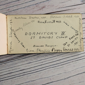 1930s autograph book (camp, Eisteddfod etc) and 1958 diary