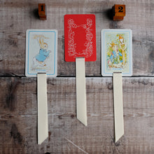 Load image into Gallery viewer, Beatrix Potter Rummy vintage card game repurposed bookmark.