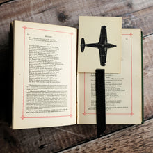 Load image into Gallery viewer, Aircraft recognition card bookmark. Silhouette designs.