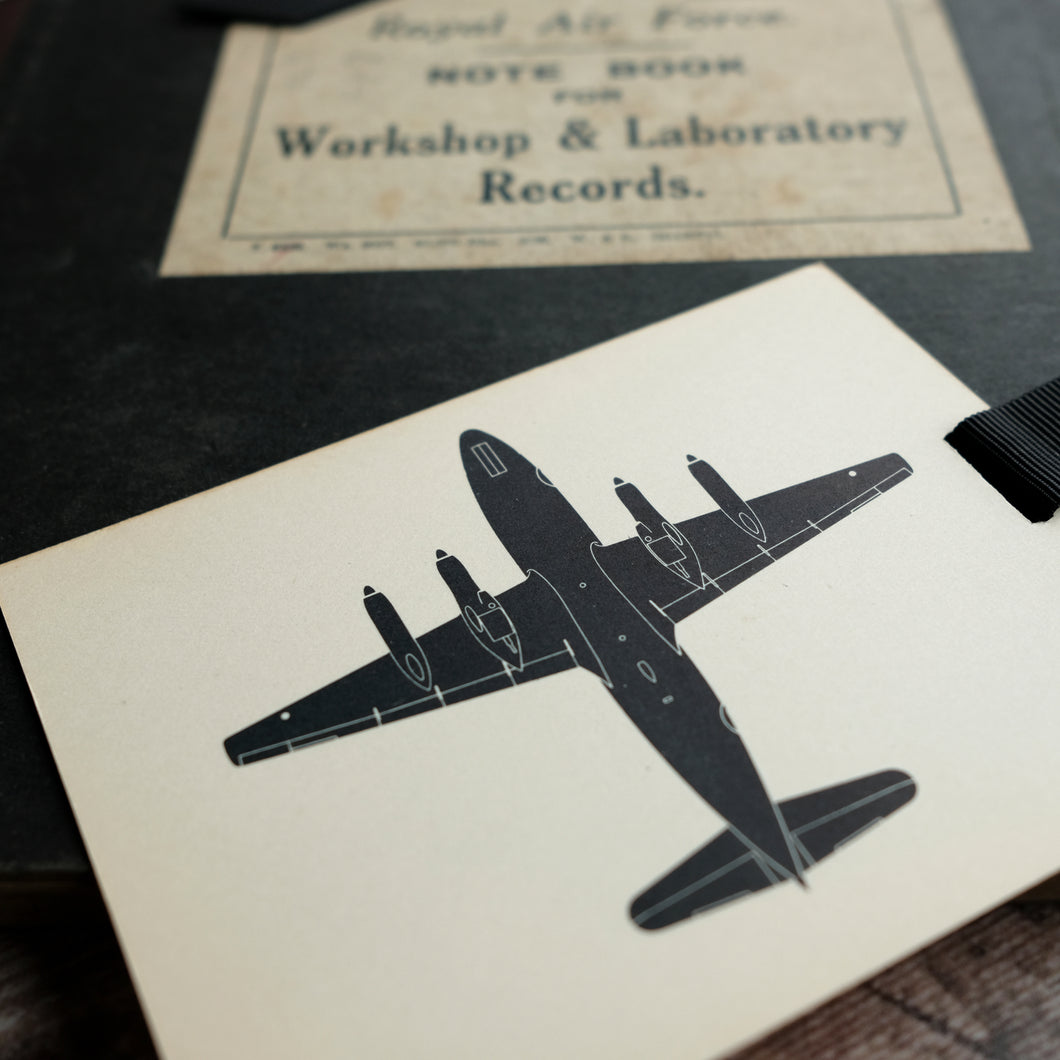 Aircraft recognition card bookmark. Silhouette designs.