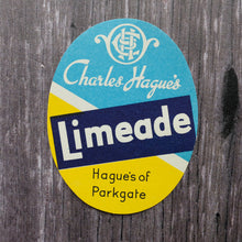 Load image into Gallery viewer, Limeade vintage drinks bottle label from Hague's of Parkgate