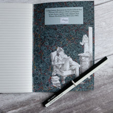 Load image into Gallery viewer, Pride & Prejudice A5 lined paper notebook slimline 48 pages.