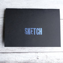 Load image into Gallery viewer, Sketchbook A5 size acid free 140gsm paper with vintage type SKETCH cover