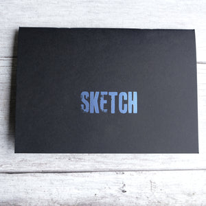 Sketchbook A5 size acid free 140gsm paper with vintage type SKETCH cover