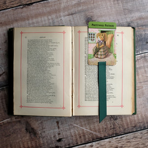 Woodland Snap vintage card game bookmark.  Racey Helps illustrations.