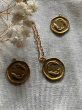 Load image into Gallery viewer, Brass Horoscope necklace