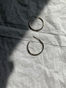 Sterling plain hoops