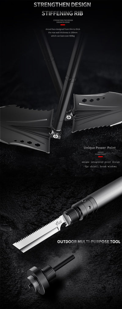 Multifunctional Tactical Shovel Crotalus Adventure