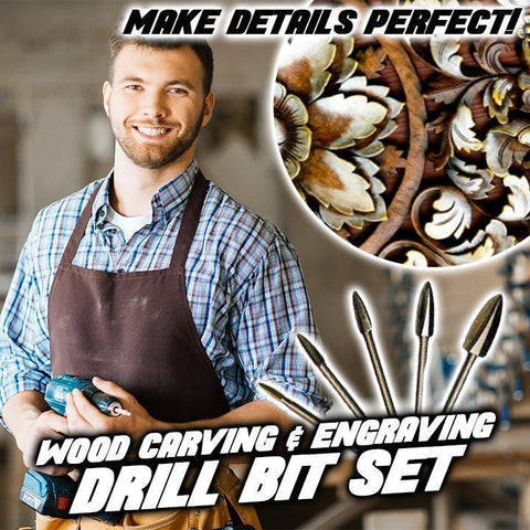 Image of Wood Carving & Engraving Drill Bit Set