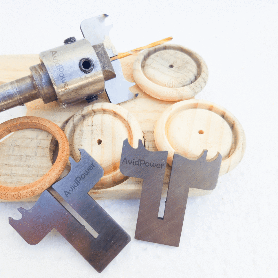 Wooden Ring and Button Drill Bit