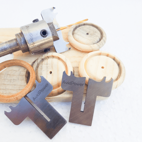 Image of Wooden Ring and Button Drill Bit