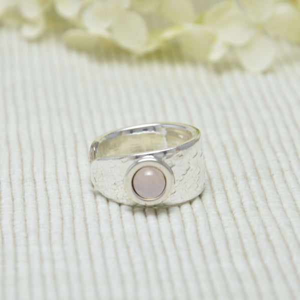 CREMA SIZILIANA Ring mit  Rosenquarz