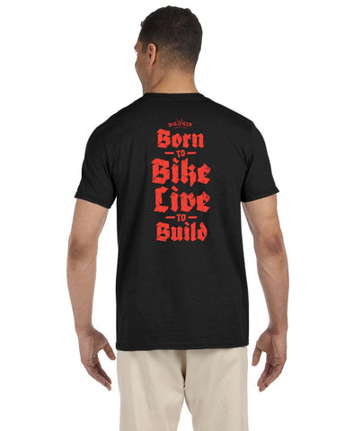 Born to Bike. Live to Build T-Shirt