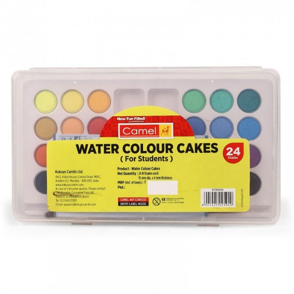 Camel Water Colour Cakes 24 shades / വാട്ടർ കളർ കേക്ക്