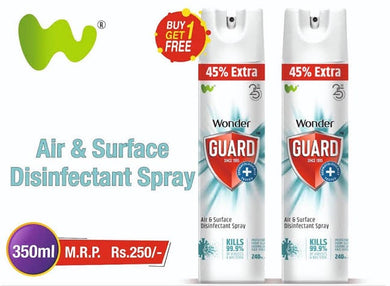 Wonder Guard Air & Surface disinfectant Spray 350ml x 2 / സർഫേസ് സ്പ്രേ Buy 1 Get 1 FREE