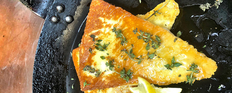 Saganaki with Thyme Infused Honey