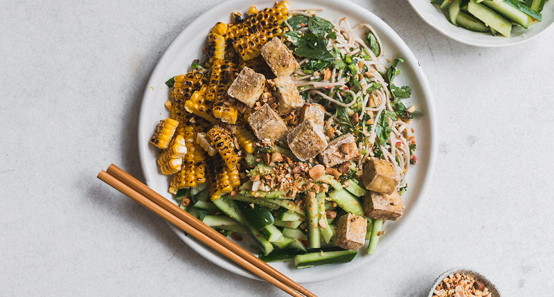 Sourced & Seasoned: Grilled Corn, Cucumber & Peanut Soba Salad