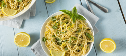 Spaghetti with Parmesan, Lemon and Basil