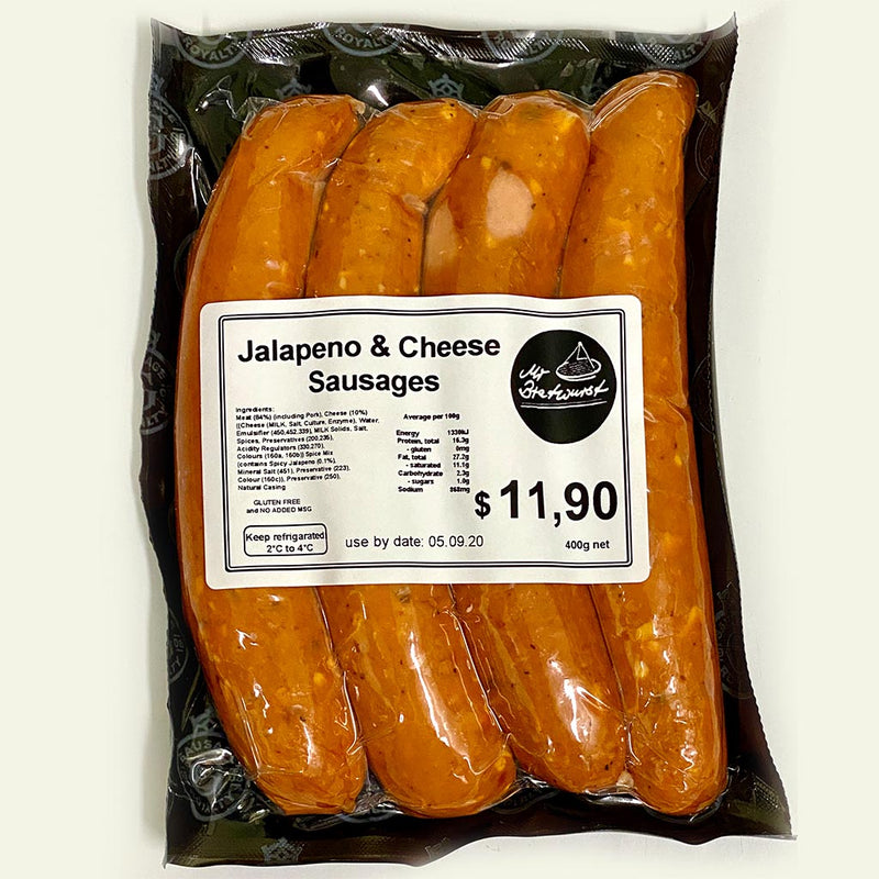 Jalapeno & Cheese Sausages (pack of 4)