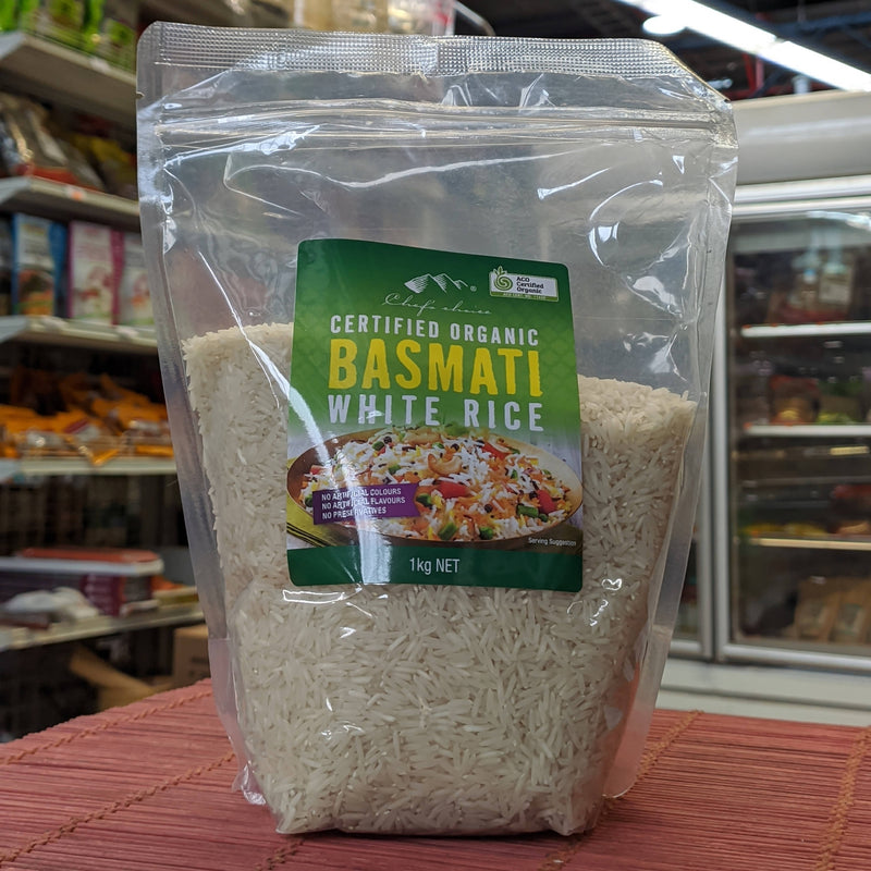 CHEF'S CHOICE Certified Organic BASMATI Rice 1kg
