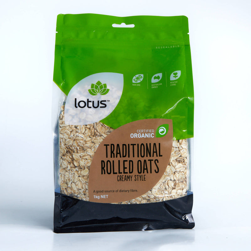 Lotus Traditional Rolled Oats 1kg