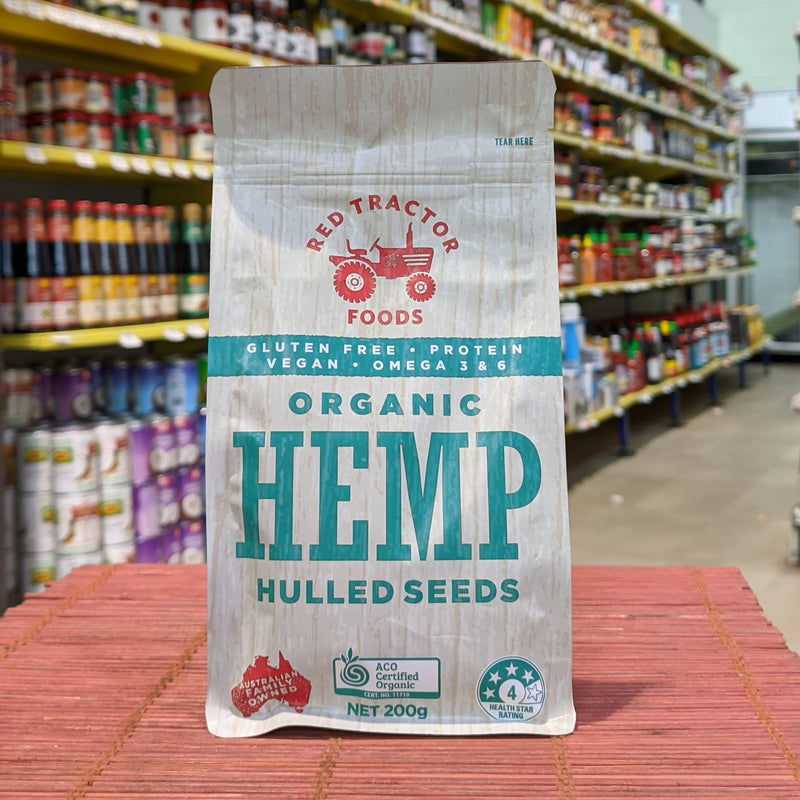RED TRACTOR Organic Hemp Seeds Hulled 200g