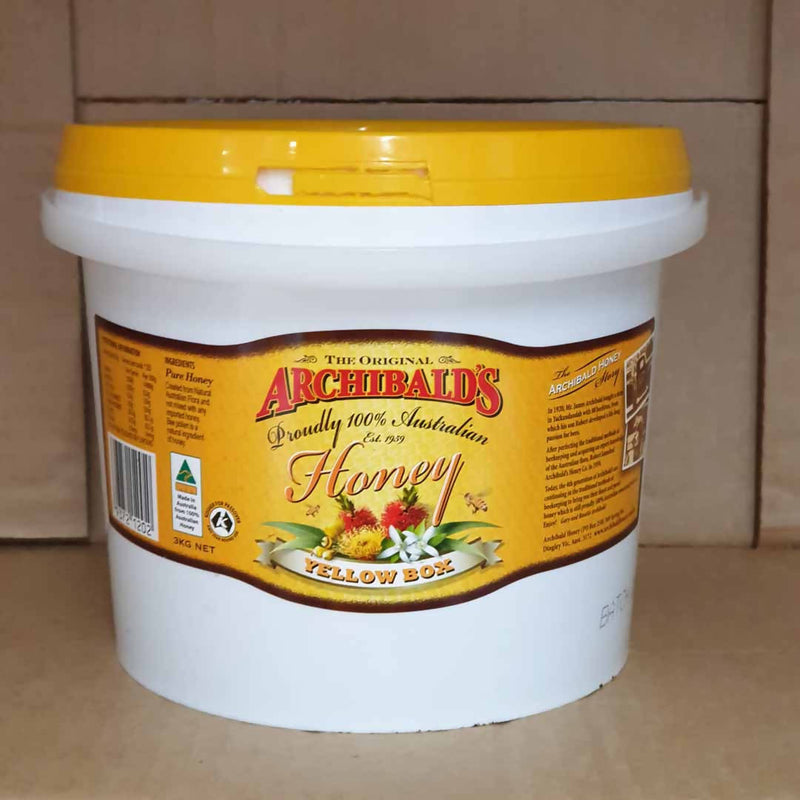Archibald's Honey Yellow Box - 3kg