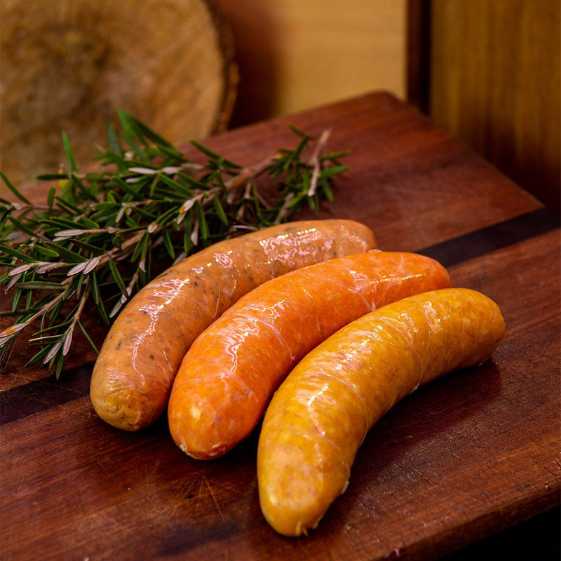 Apple, Sage & Rosemary Chicken Sausages ($19.99 p/kg)