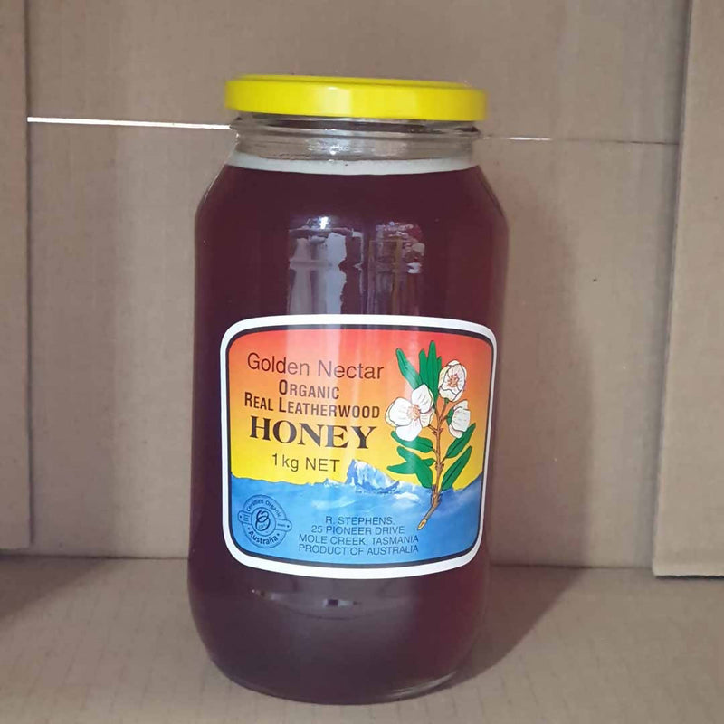 Golden Nectar Leatherwood Honey by R. Stephens - 1Litre