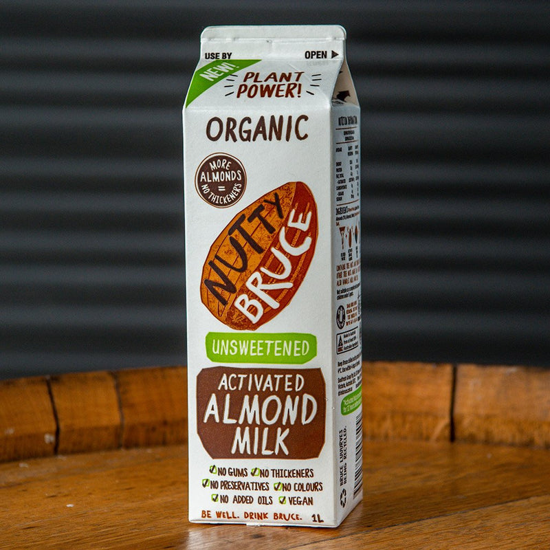 Nutty Bruce unsweetened Organic Almond Milk (1L)
