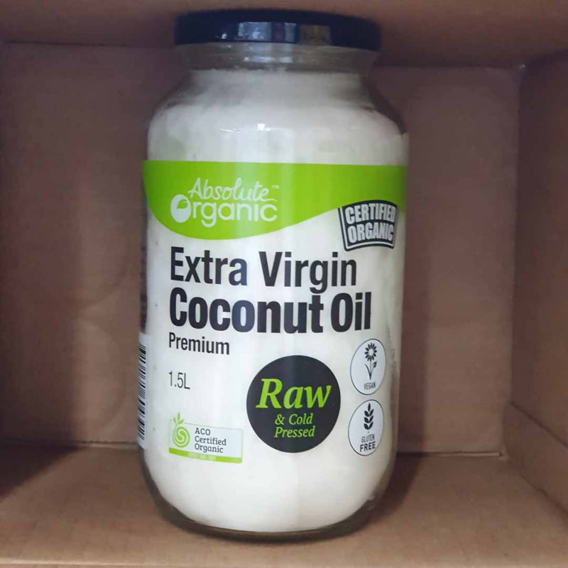 Absolutely Organic Extra Virgin Coconut Oil - 1.5L