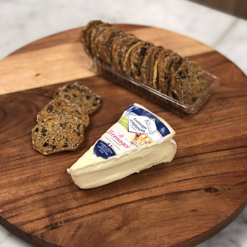 Fromager d'Affinois + Fig & Olive Crisps