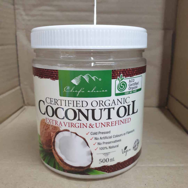 Chef's Choice Coconut Oil Extra Virgin & Unrefined - 500mL