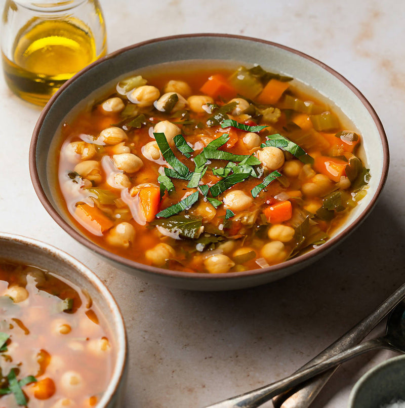Chickpea Soup with Lemon and Herbs (GF, VG)