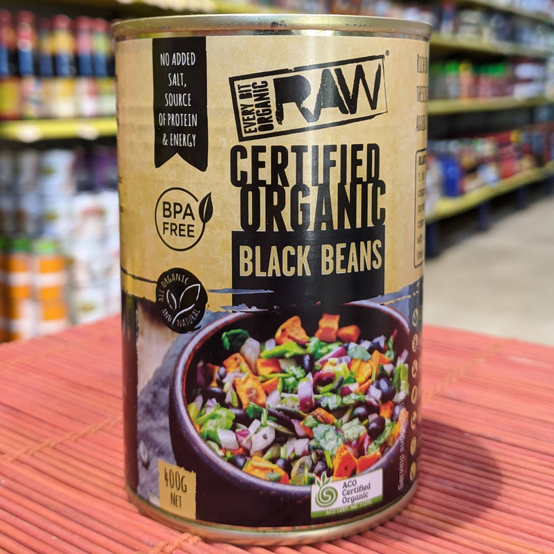 RAW Organic Black Beans Canned