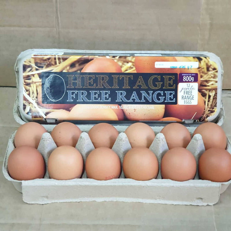 800g Heritage Free Range Eggs from South Gippsland VIC