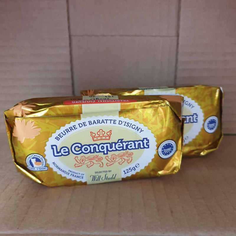 2x Le Conquèrant Butter - 1 Salted & 1 Unsalted - 125g