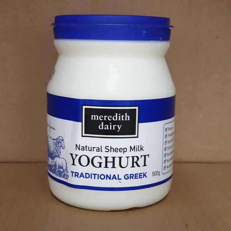 2x Meredith Dairy Natural Sheep Milk Yoghurt - 500g tubs