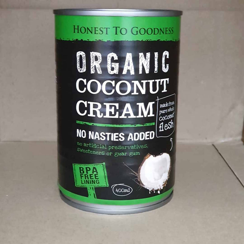 3x Organic Coconut Cream by Honest to Goodness - 400mL