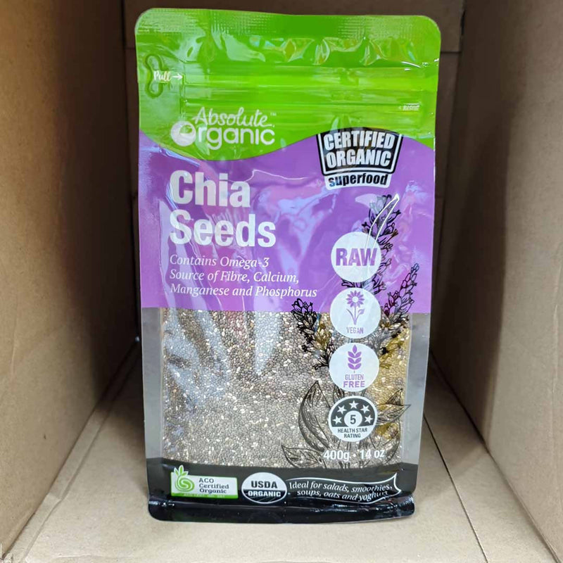 Absolute Organic Chia Seeds - 400g