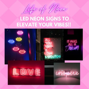 wall decor neon sign light